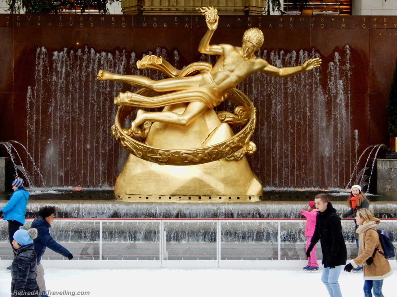 Prometheus Statue Rockefeller Centre Christmas Tree and Decor - Holiday Visit To NYC.jpg