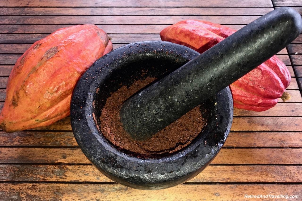 Boucan Hotel Chocolat Cacao Tour Chocolate Nib Grinding - Make Chocolate In St. Lucia.jpg