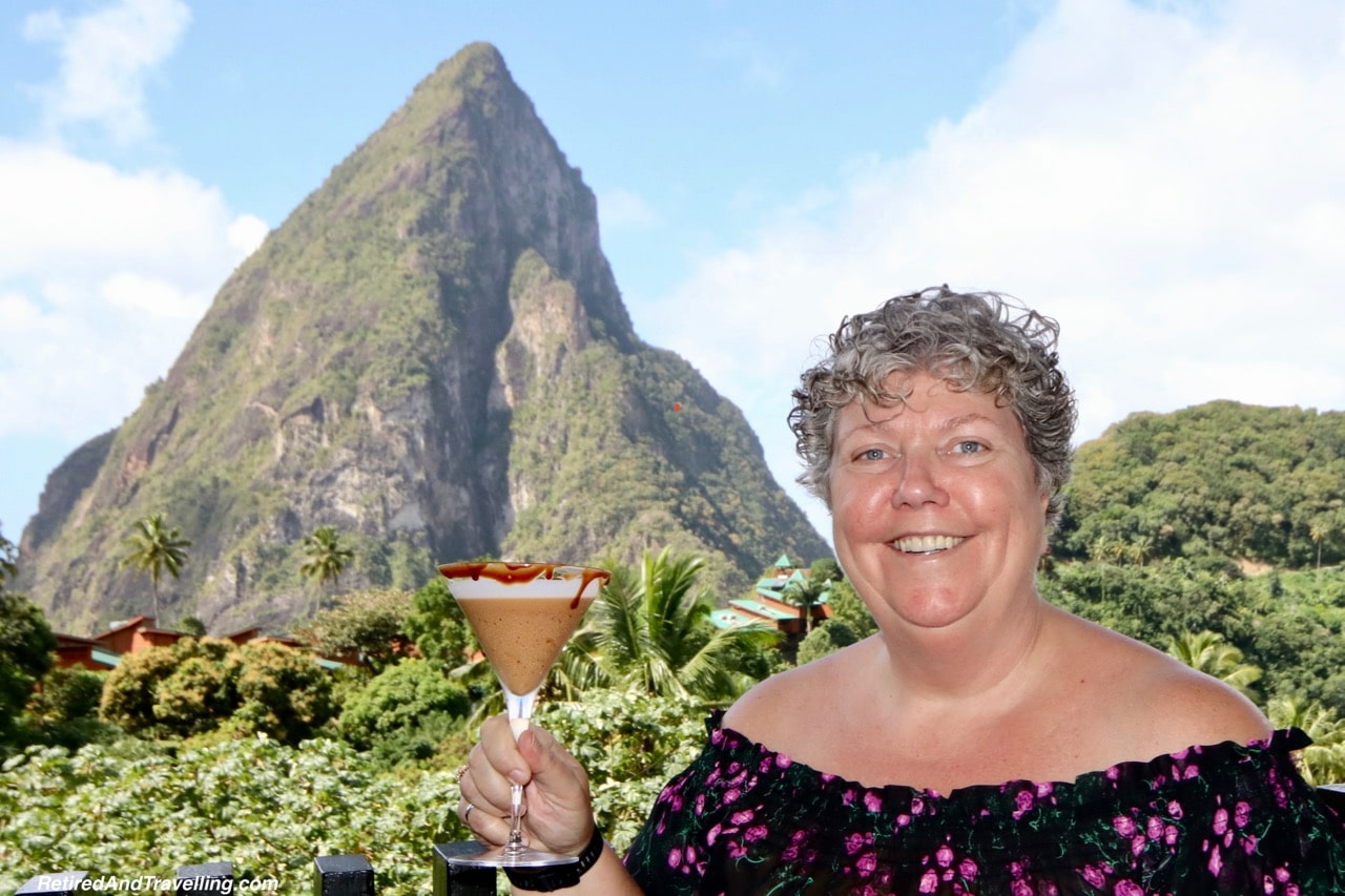 Boucan Hotel Chocolat Chocolate Drink And Pitons View - Make Chocolate In St. Lucia.jpg