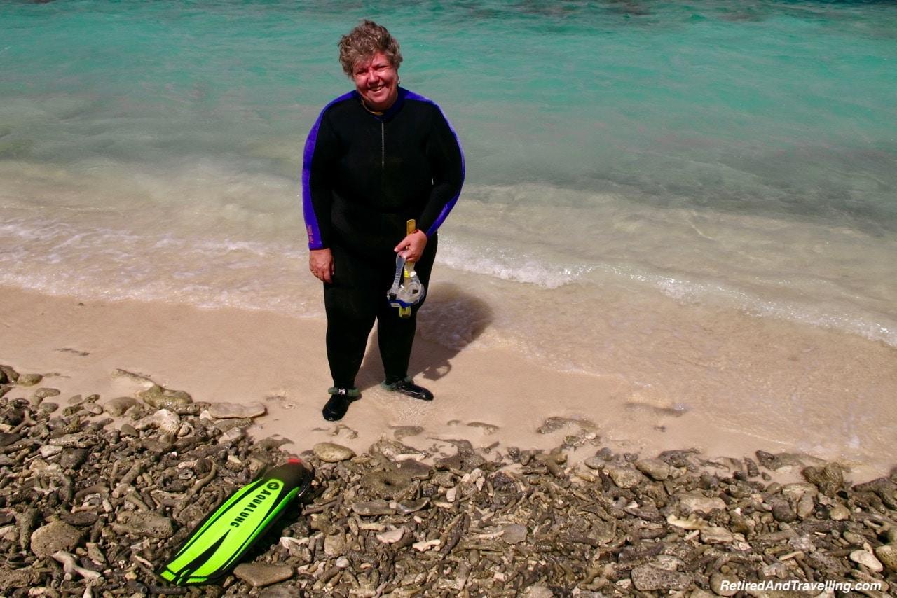Klien Bonaire Beach Snorkel - Head Underwater In Bonaire.jpg