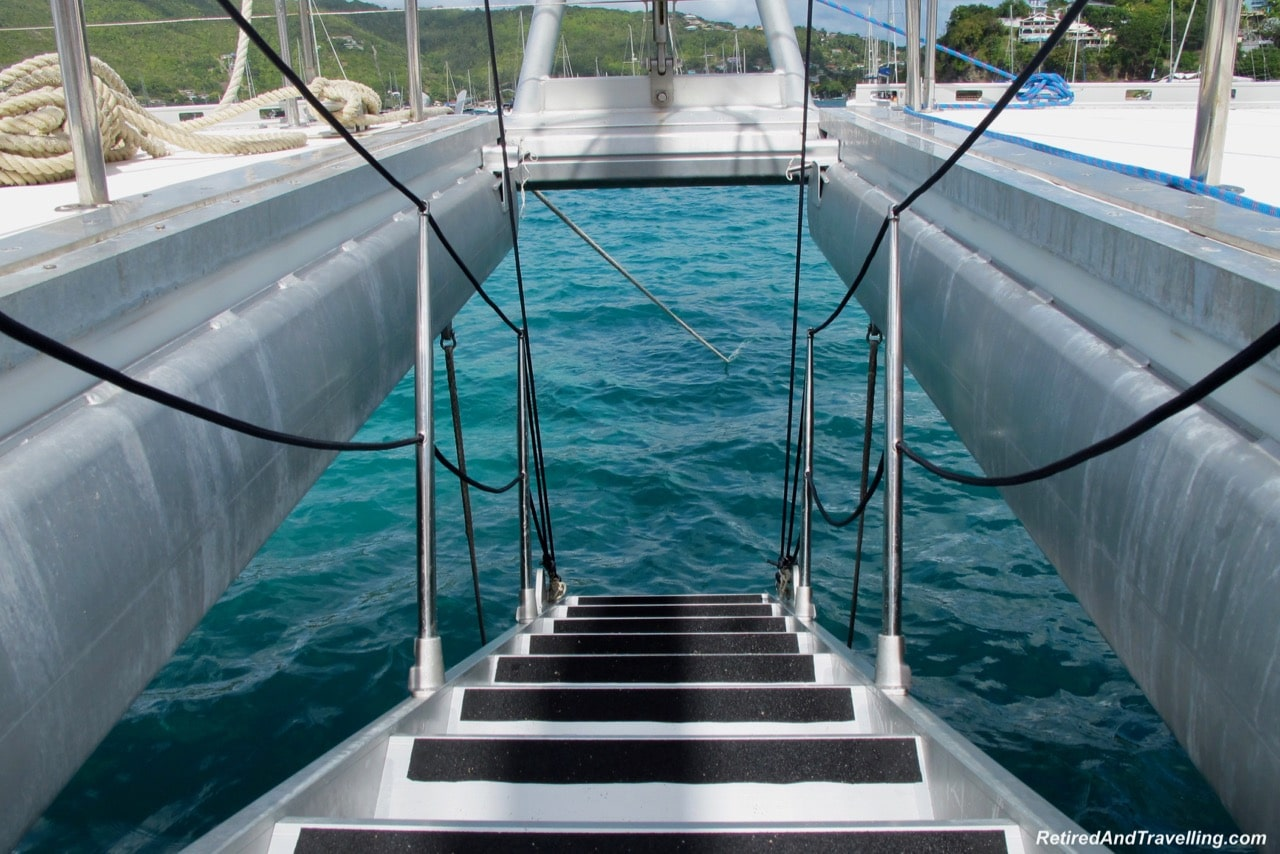 Catamaran Stairs Bequia Island - Catamaran Adventure In St. Vincent.jpg