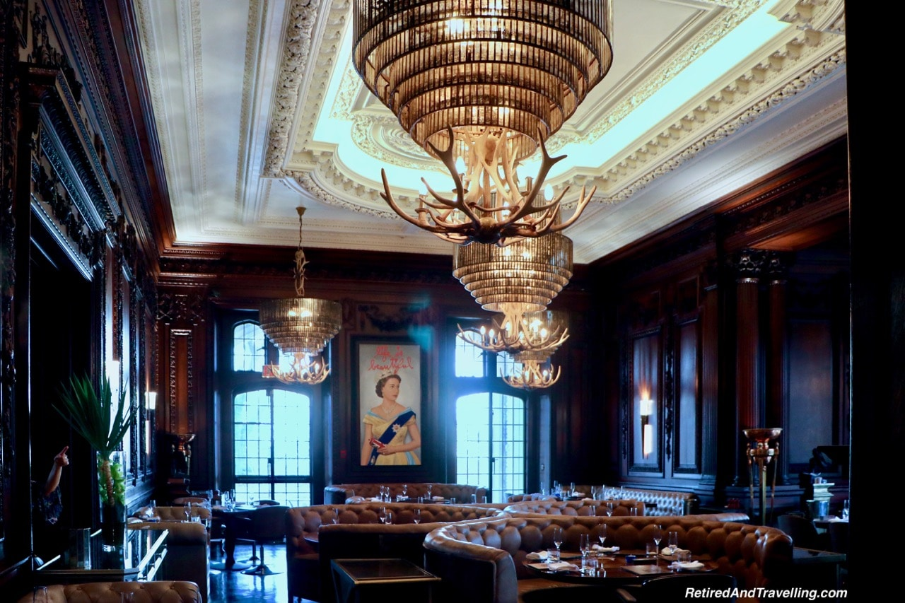 Queen Elizabeth in Oak Room at Casa Loma - Afternoon Tea At A Castle In Toronto.jpg