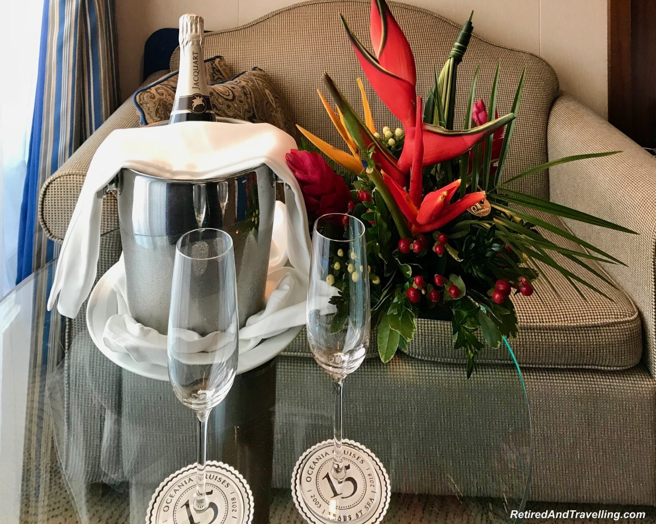 Flowers and Champagne Welcome - Cruise To The Southern Caribbean.jpg