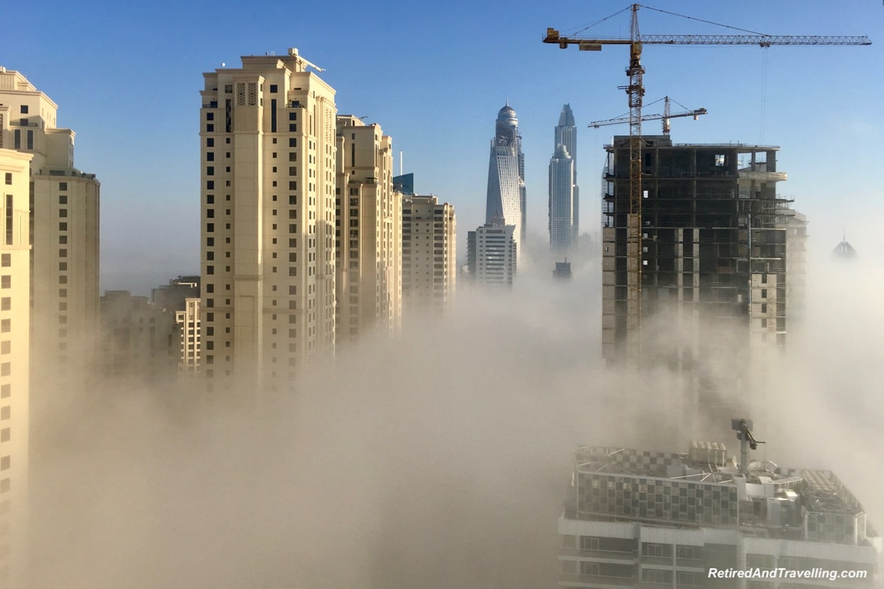 Fog Views From Intercontinental Dubai Marina - Dubai For New Years.jpg