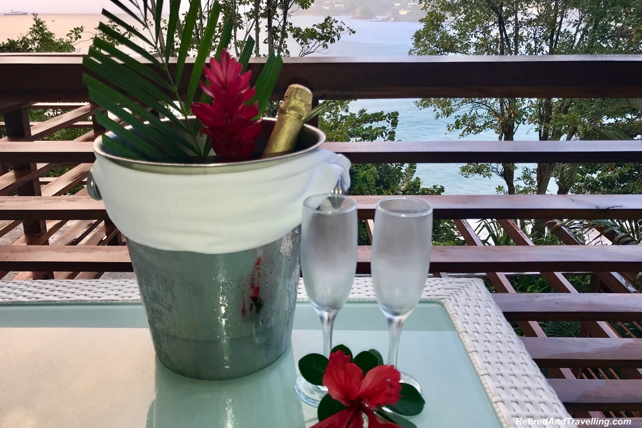 Sandals Regency La Toc Oceanfront Two Storey Bulter Suite Welcome Champagne - A Week In St. Lucia.jpg