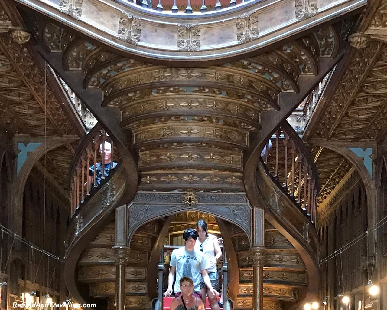 Livraria Lello Stairs Porto - Reasons To Visit Portugal.jpg