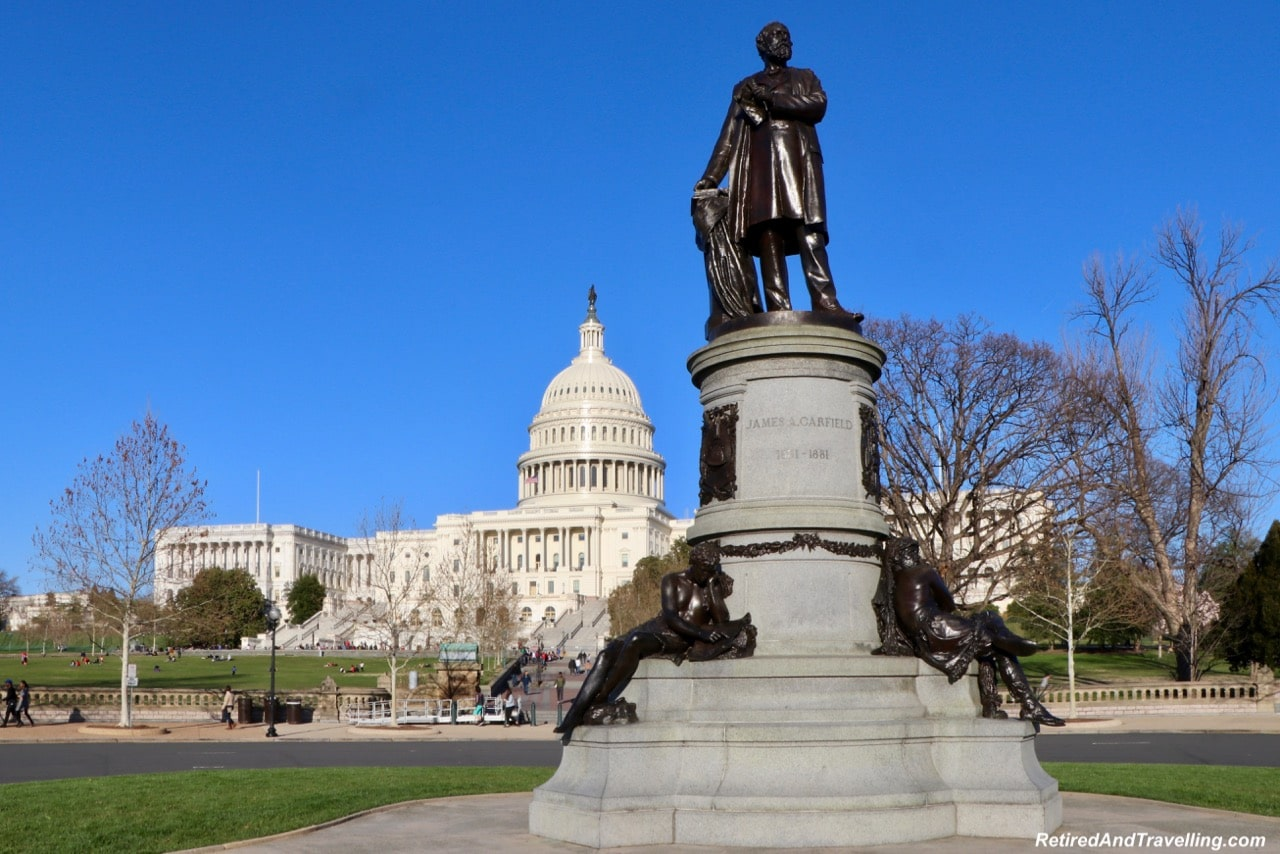 James Garfield in front of US Capital - Things To Do In Washington DC.jpg