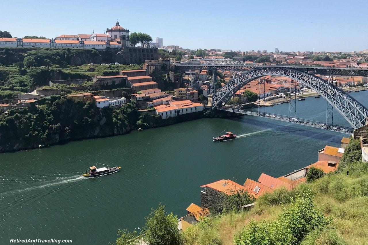 Duoro River Above Bridge Porto - Reasons To Visit Portugal.jpg