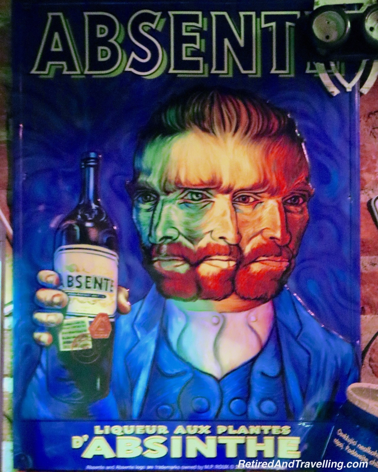 Vincent Van Gogh Absinthe Decoration - Green Devil's Absinth Bar - Visit An Absinthe Bar In Prague.jpg