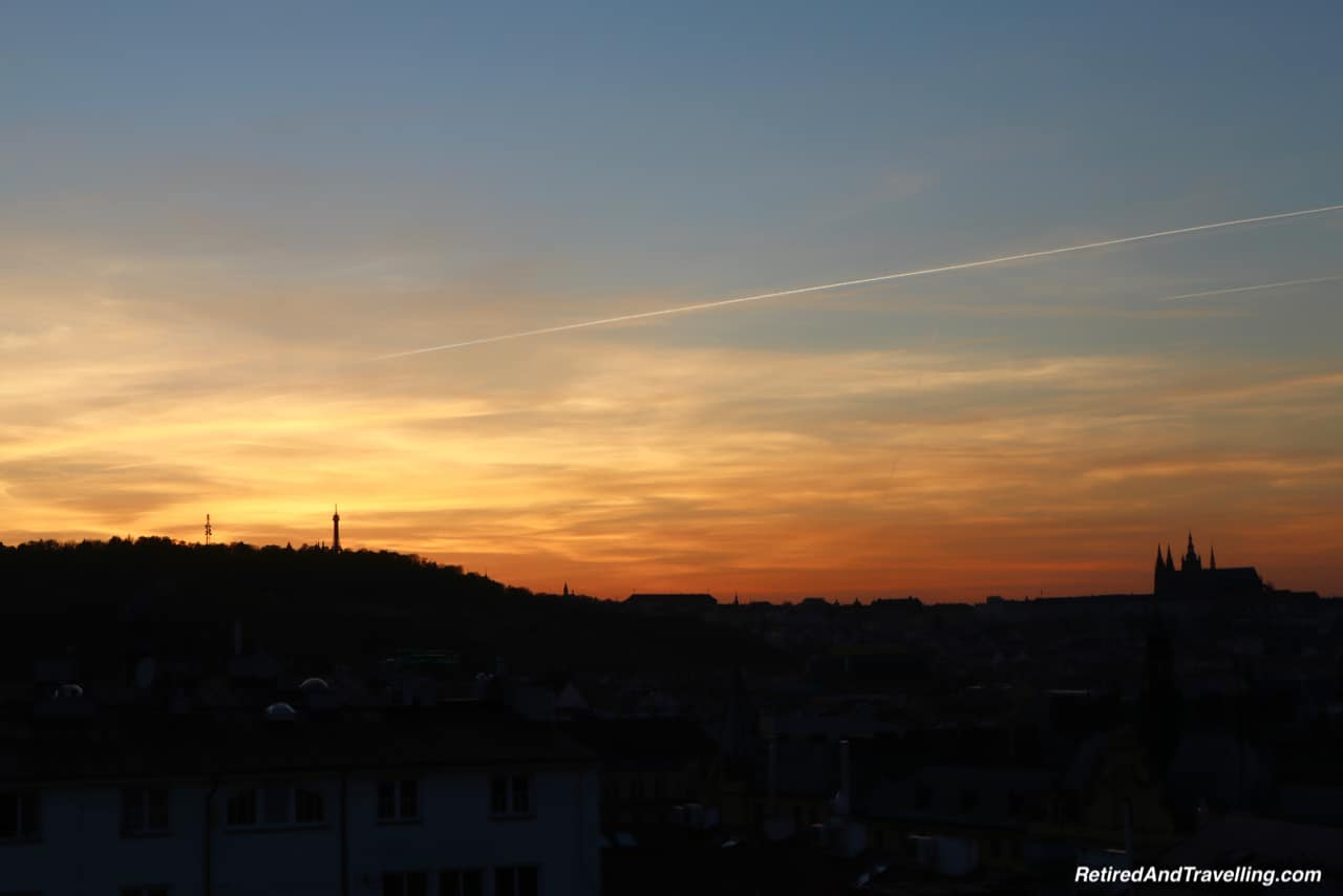 Sunset View from The Sheraton Prague Charles Square In Prague.jpg