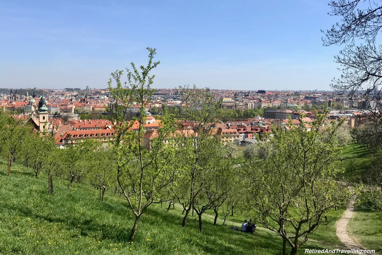 Walking Down From The Petrin Tower In Prague.jpg