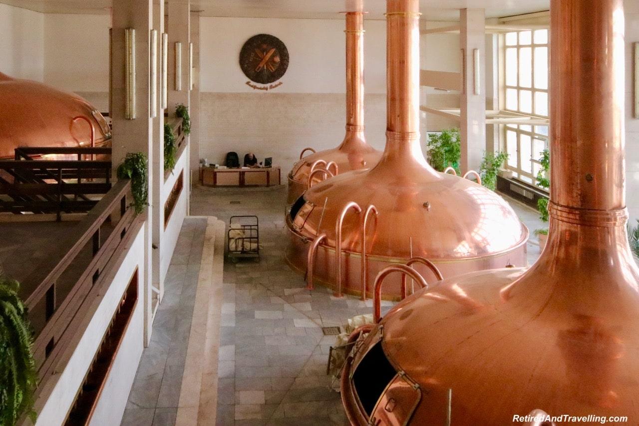 Budvar Beer Copper Vats - Original Budvar Budweiser Brewery.jpg