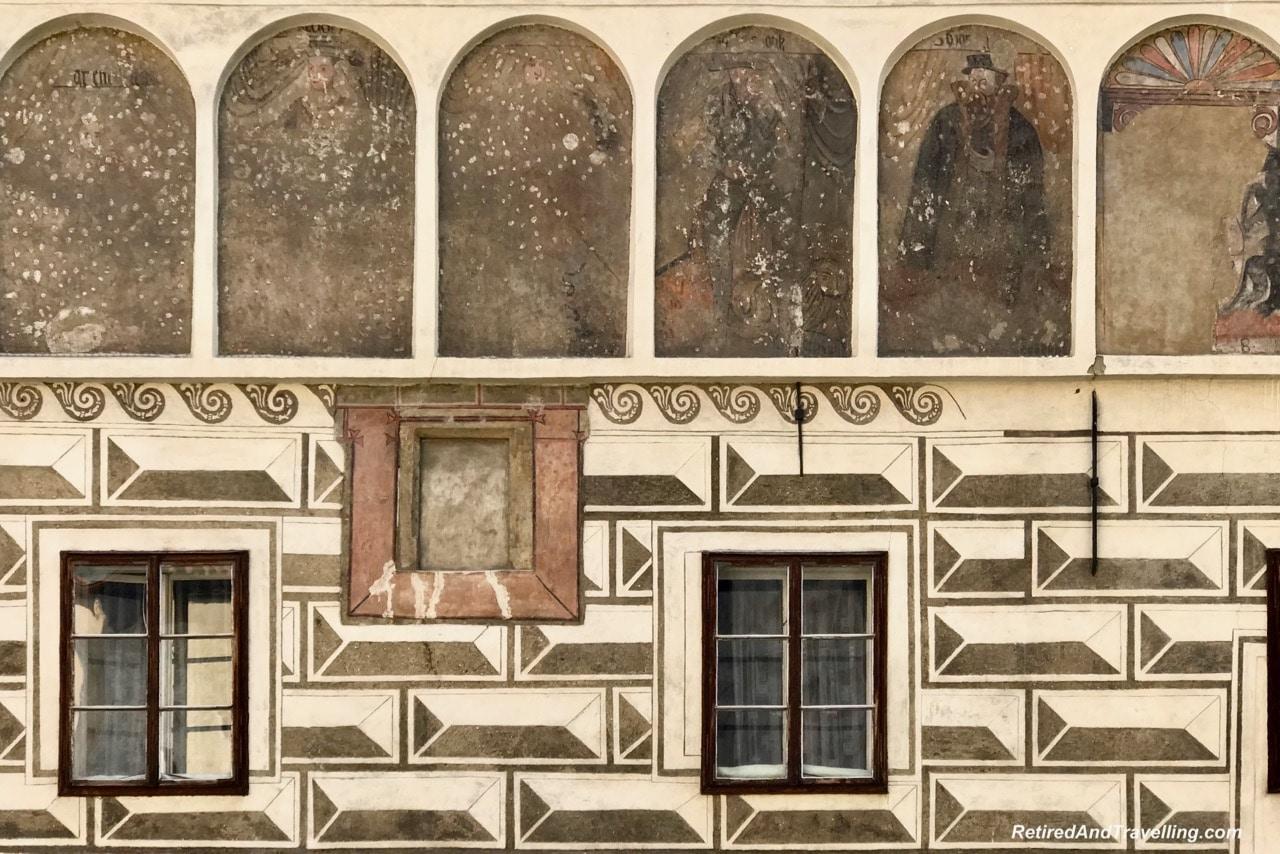 Cesky Krumlov Building Art Frescos - Medieval Town Of Cesky Krumlov.jpg