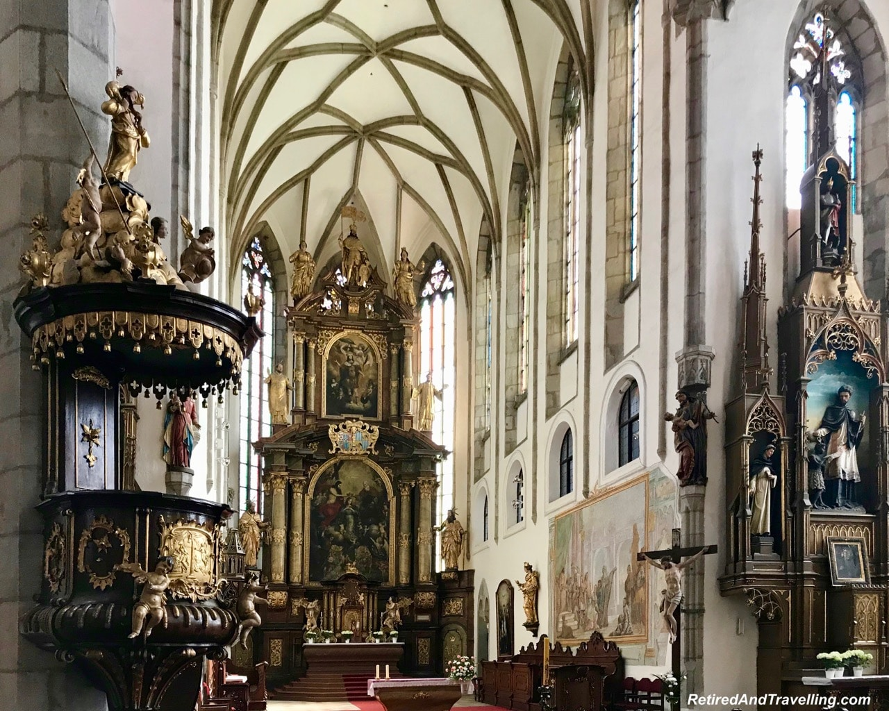 St Vitrus Church Altar - Medieval Town Of Cesky Krumlov.jpg
