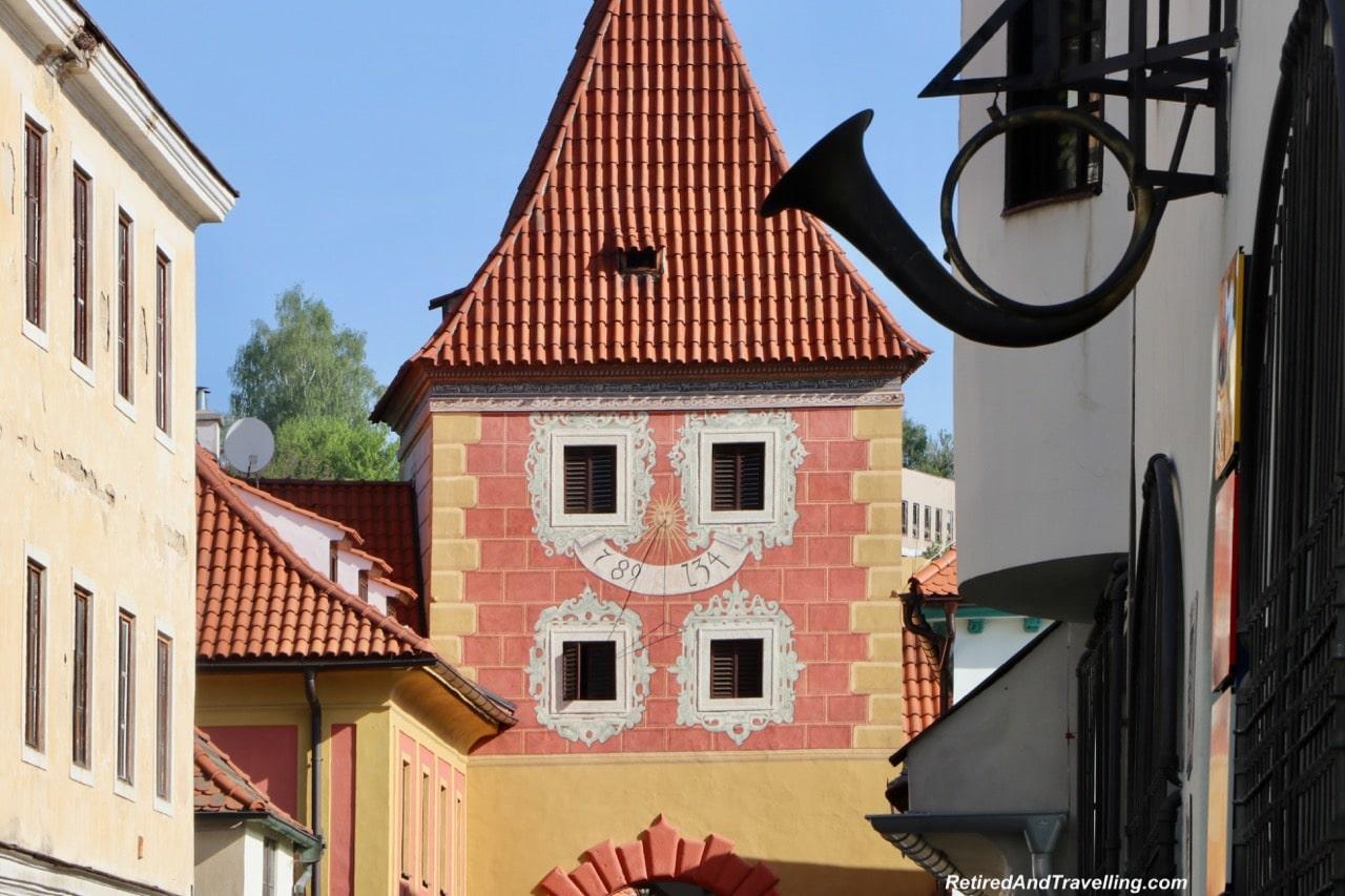 Cesky Krumlov Sundial Clocks - Medieval Town Of Cesky Krumlov.jpg