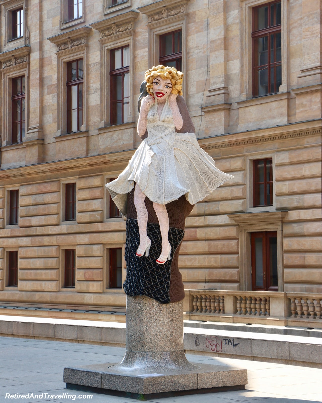 Marilyn Monroe Statue National Theatre Riverfront Walk Views - Cruise the Vltava River in Prague.jpg