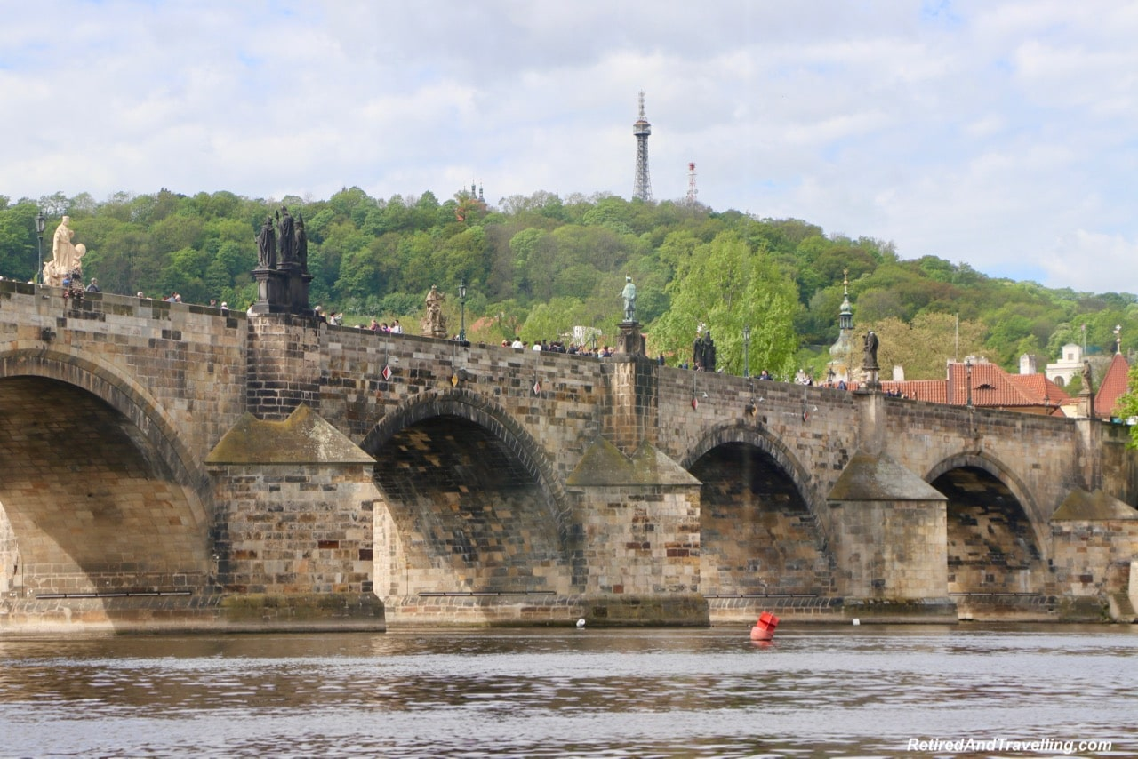 Petrin Tower and Charles Bridge - Prague Venice Tours River Cruise Views - Cruise the Vltava River in Prague.jpg