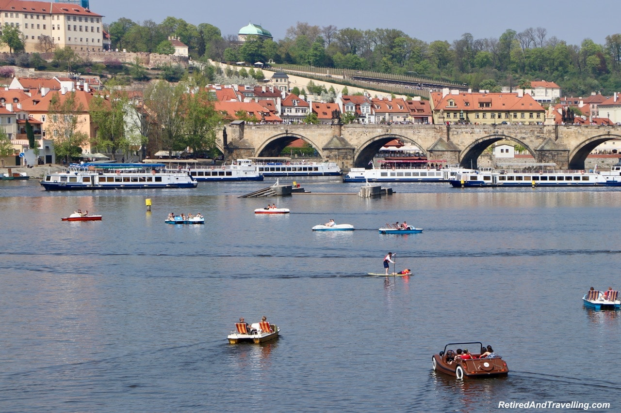 Busy Boat Traffic Riverfront Walk Views - Cruise the Vltava River in Prague.jpg