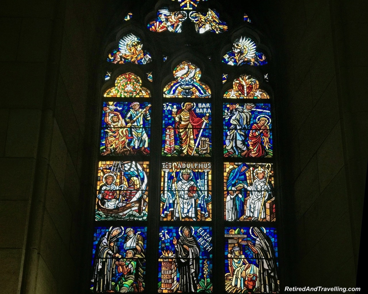 St Vitrus Catherdral Inside Stained Glass Prague - Churches And Castles In The Czech Republic.jpg