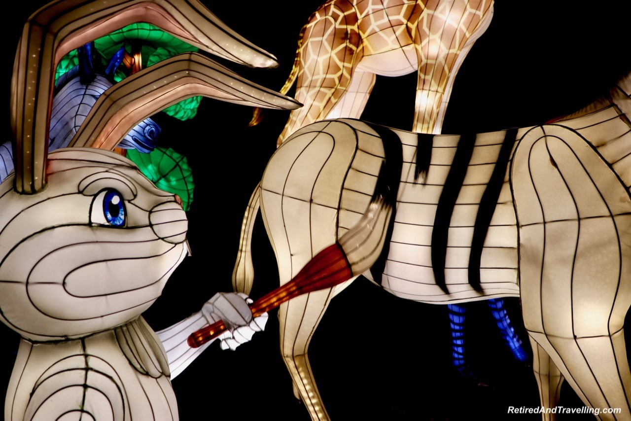 Zebras African Animals - Chinese Lanterns At The Toronto CNE.jpg