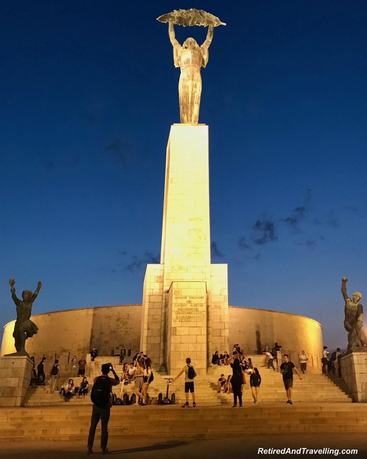 Gellert Liberty Statue - Night Danube River Cruise In Budapest.jpg