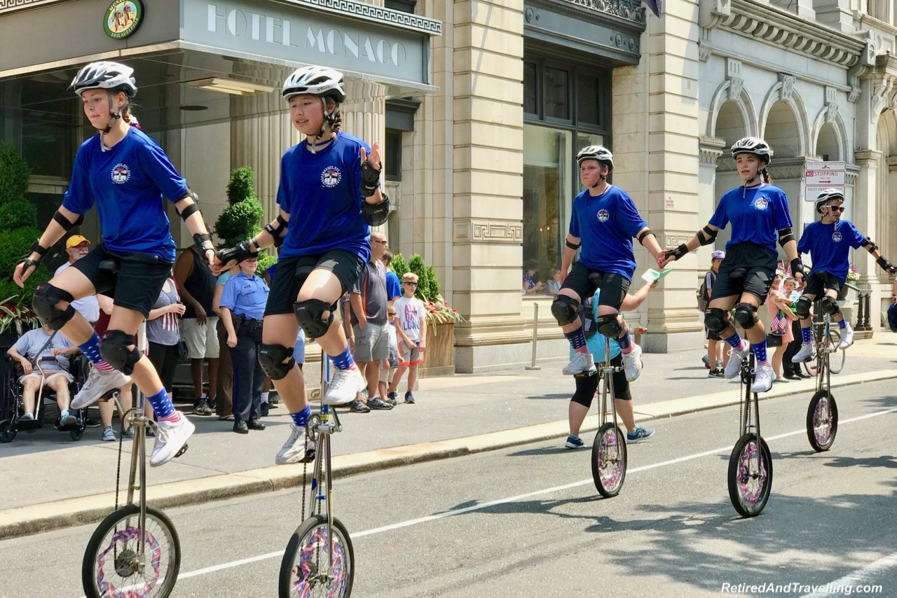 Parade Unicycles - Philadelphia For The July 4th Independence Day.jpg