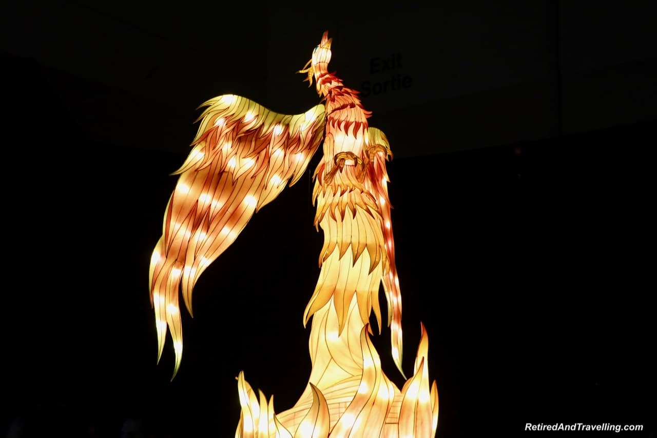 Phoenix Rising Mythical Creatures - Chinese Lanterns At The Toronto CNE.jpg