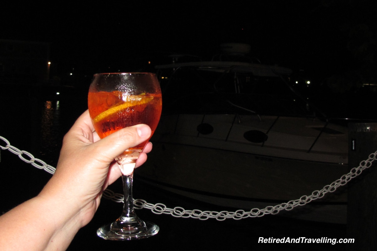 Pizza Aperol Spritz Nassau Bahamas - Travel For Food.jpg
