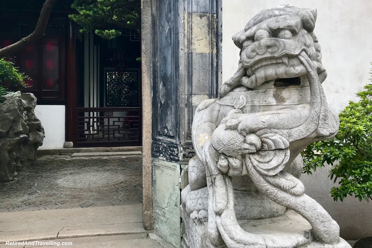 Yu Gardens Chinese Garden Foo Lion Dogs - Old Town and Yu Gardens in Shanghai.jpg