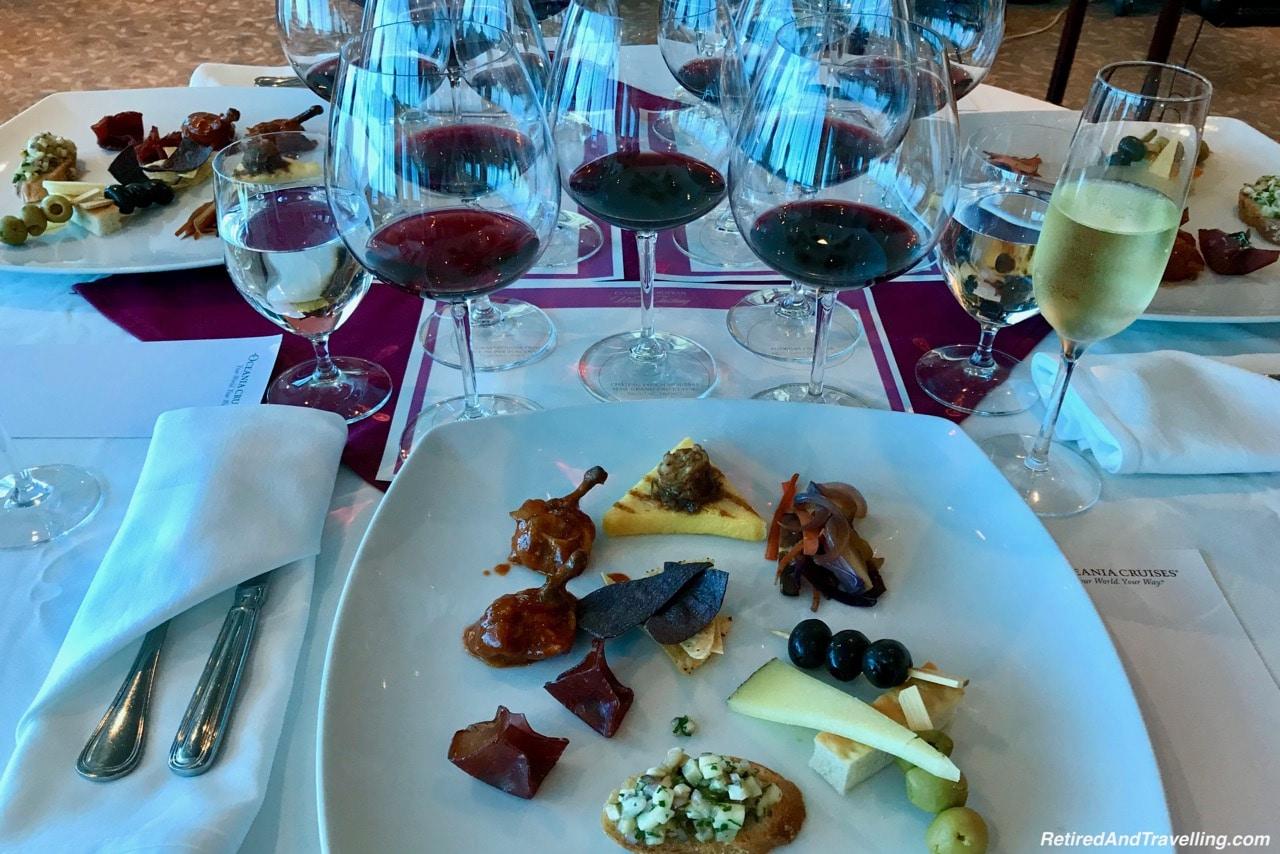 Oceania Cruises Wine Tasting