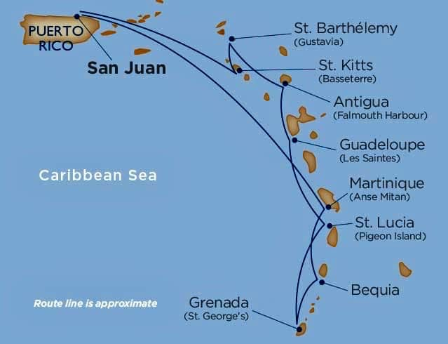 Windstar Star Pride Cruise Route - Look Back At Travel In 2018.jpg