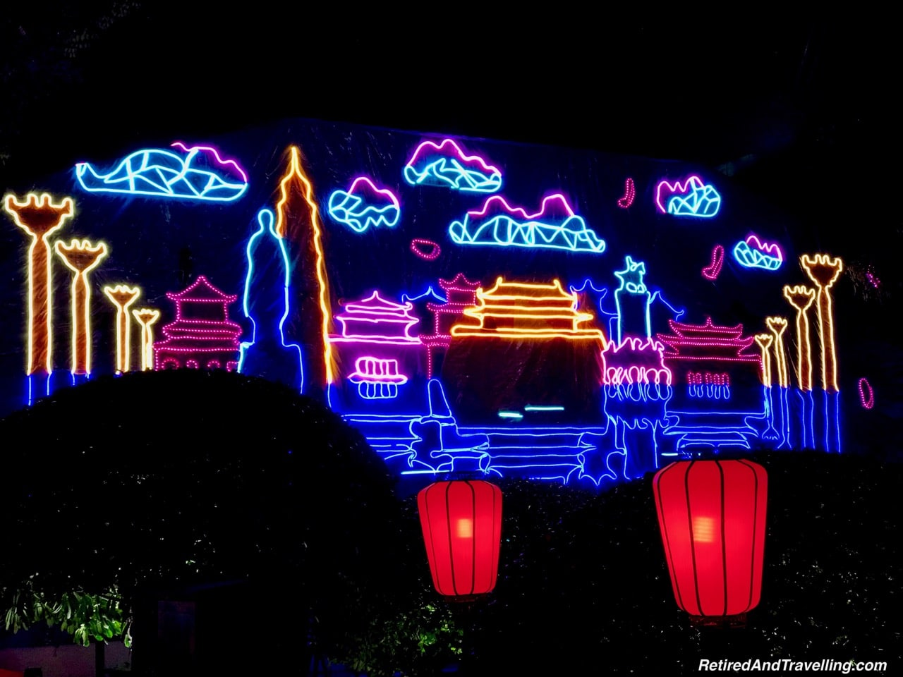 Xian S. Yanta Street Night Light Show Neon - Great Things To Discover In Xian China.jpg