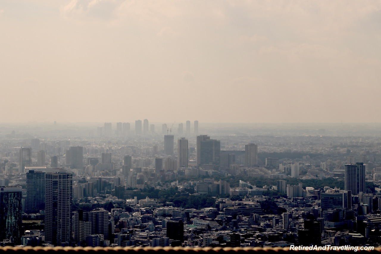 Tokyo Tower Top Deck Tour Mt Fuji Haze View - Panoramic View From The Tokyo Tower.jpg