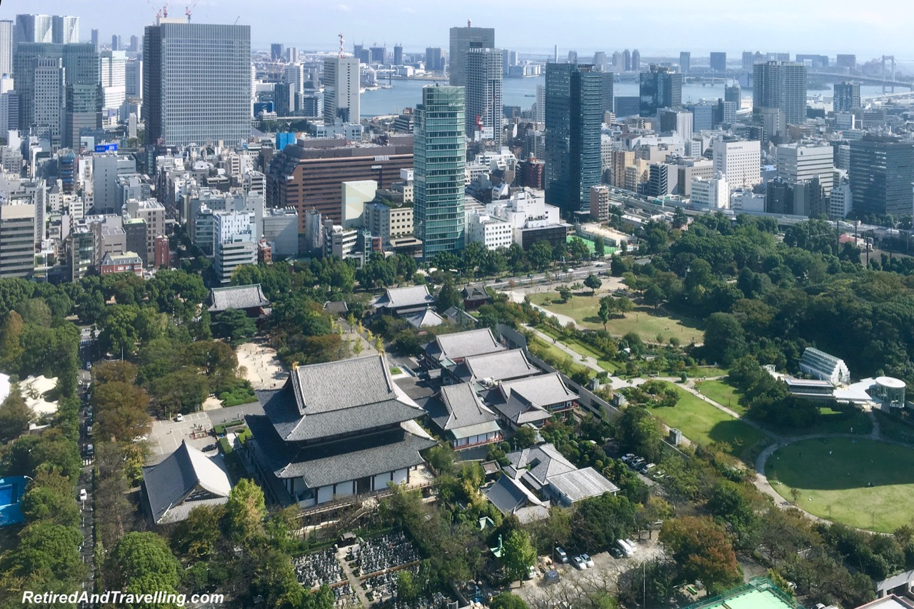 Tokyo Tower Top Deck Tour Temple View - Panoramic View From The Tokyo Tower.jpg