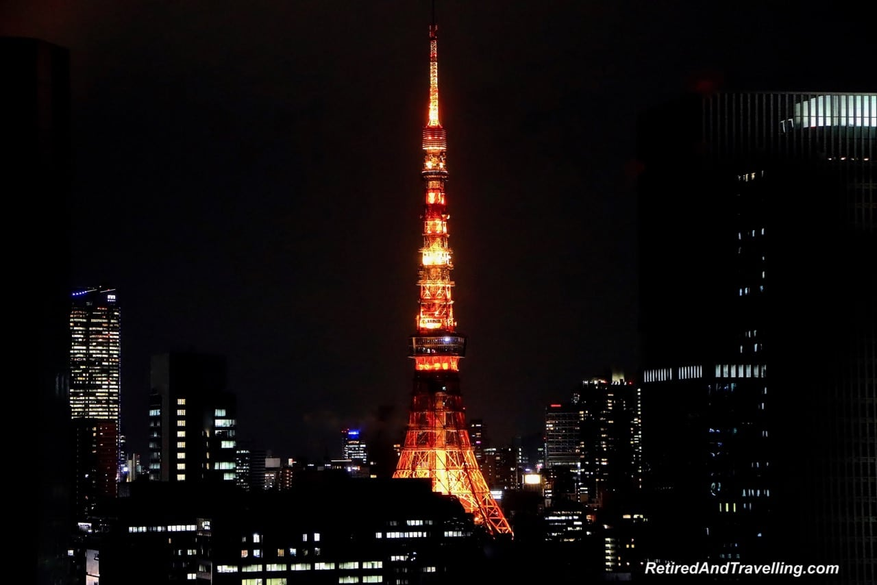 Tokyo Tower Lighted at Night - Panoramic View From The Tokyo Tower.jpg