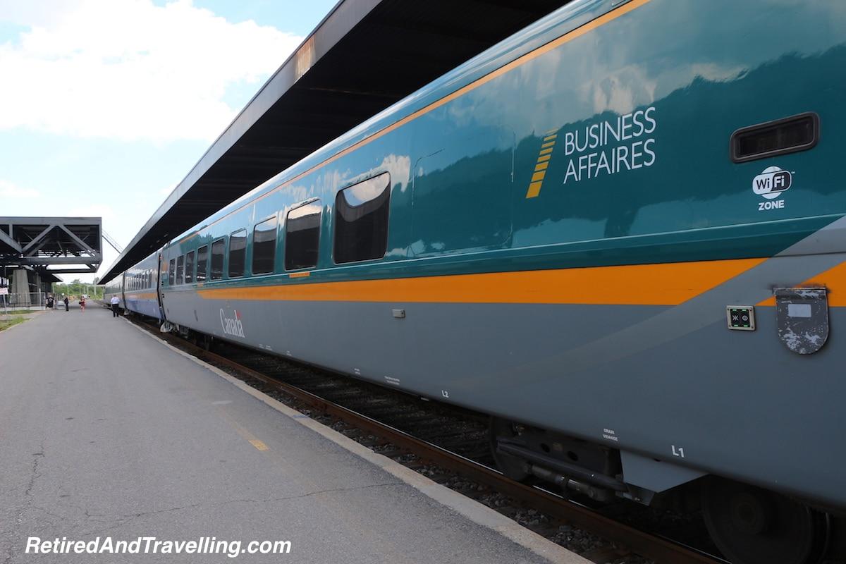 Luxury Treat Via Rail Business Class - Favourite Travel Blog Posts RetiredAndTravelling.jpg