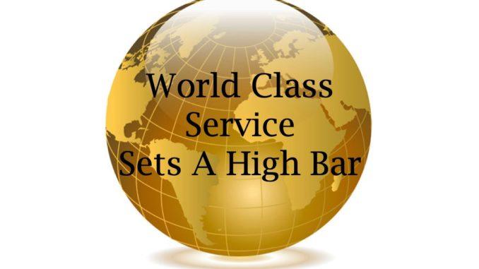World Class Regis >> World Class Service Set A High Bar Retired And Travelling