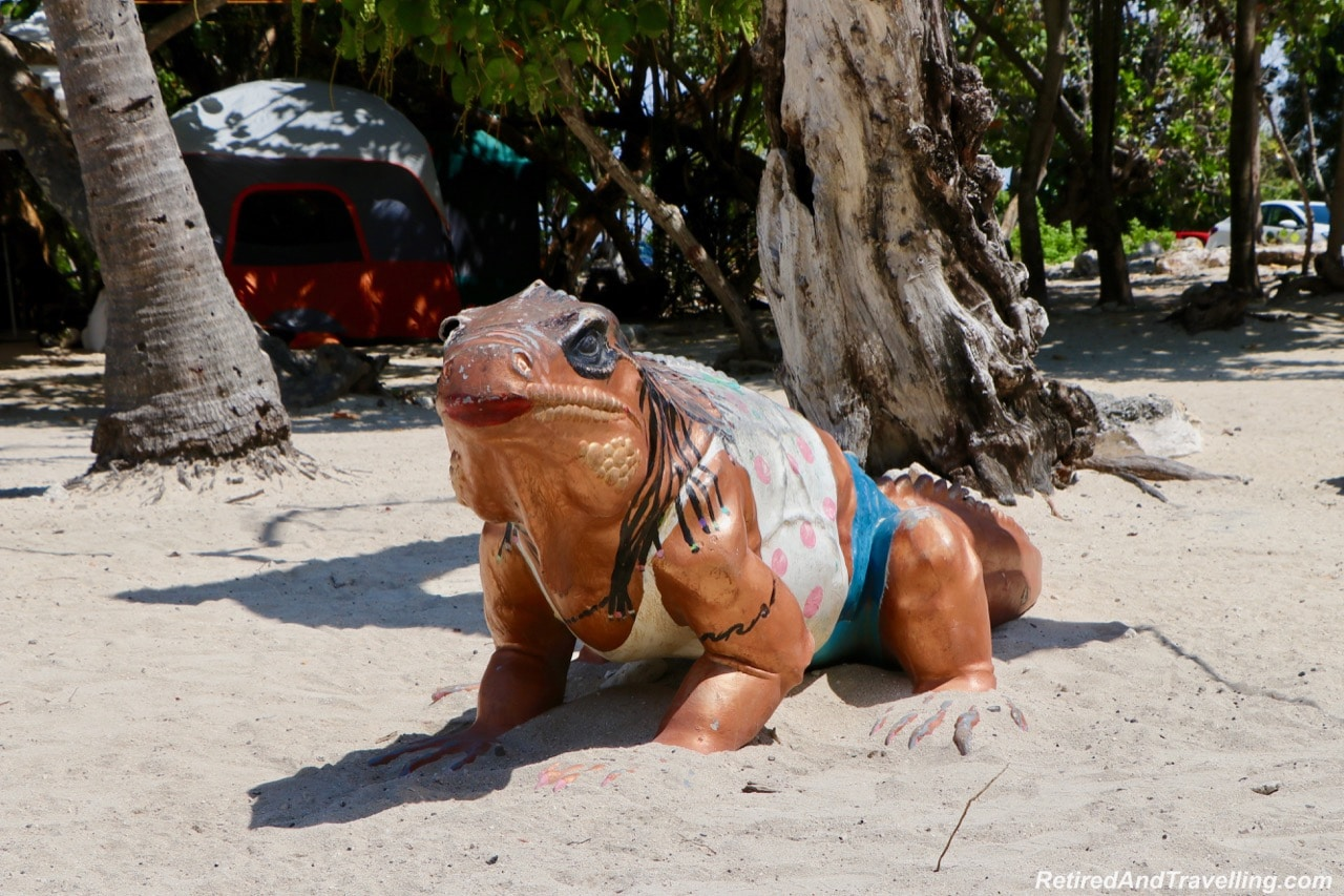 Blue Dragon Iguana Betsy the Tourist statue - Things To Do In Grand Cayman.jpg