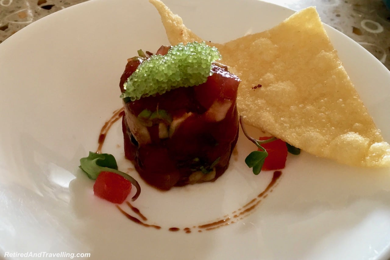 Tuna Tartar Seven Happy Hour - Stay At Ritz-Carlton Grand Cayman.jpg
