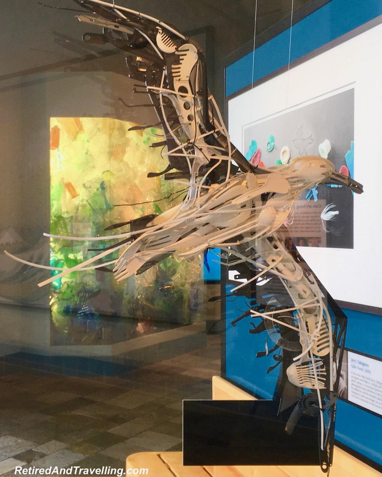 Monterey Bay Aquarium Plastics Exhibit Albatross - Under the Sea Views Of Monterey.jpg