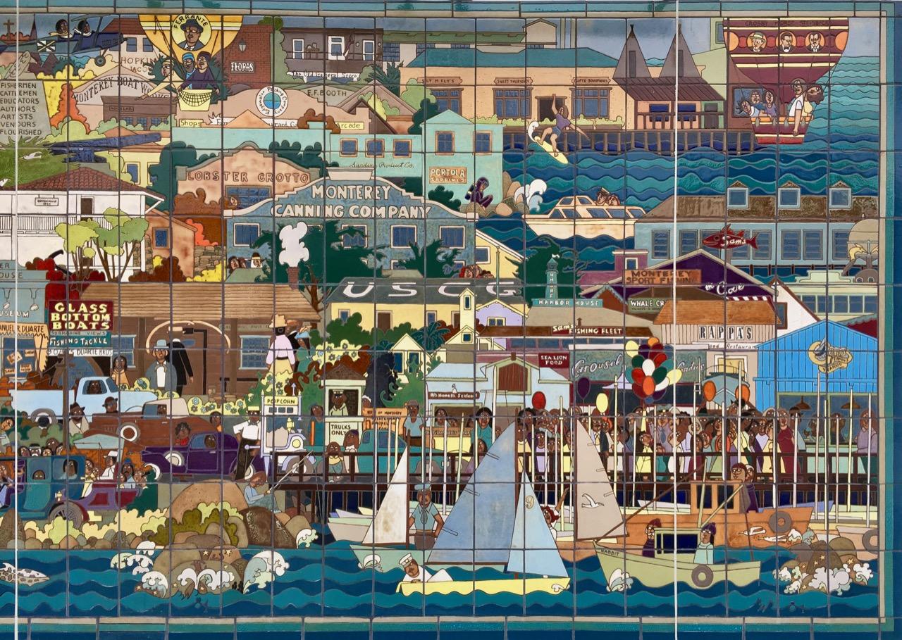Mural Monterey Cannery Row - Sea Views Of Monterey.jpg