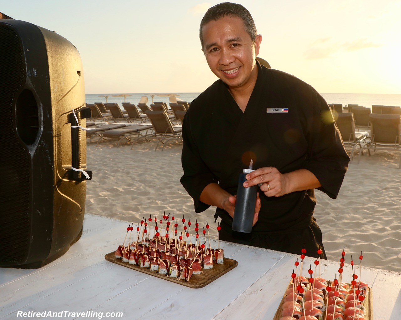 Sunset Food Samples - Stay At Ritz-Carlton Grand Cayman.jpg
