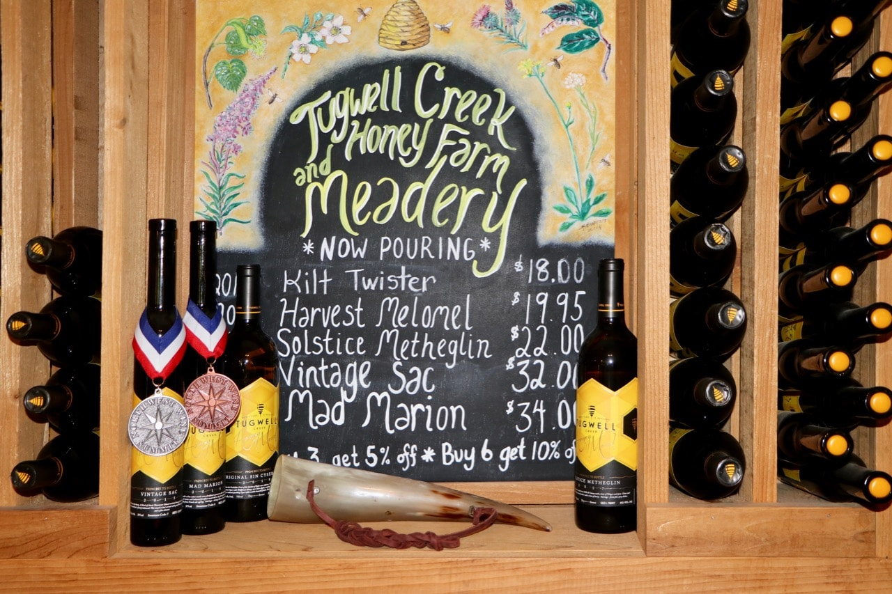 Wine Selection Tugwell Meadery Vancouver Island.jpg