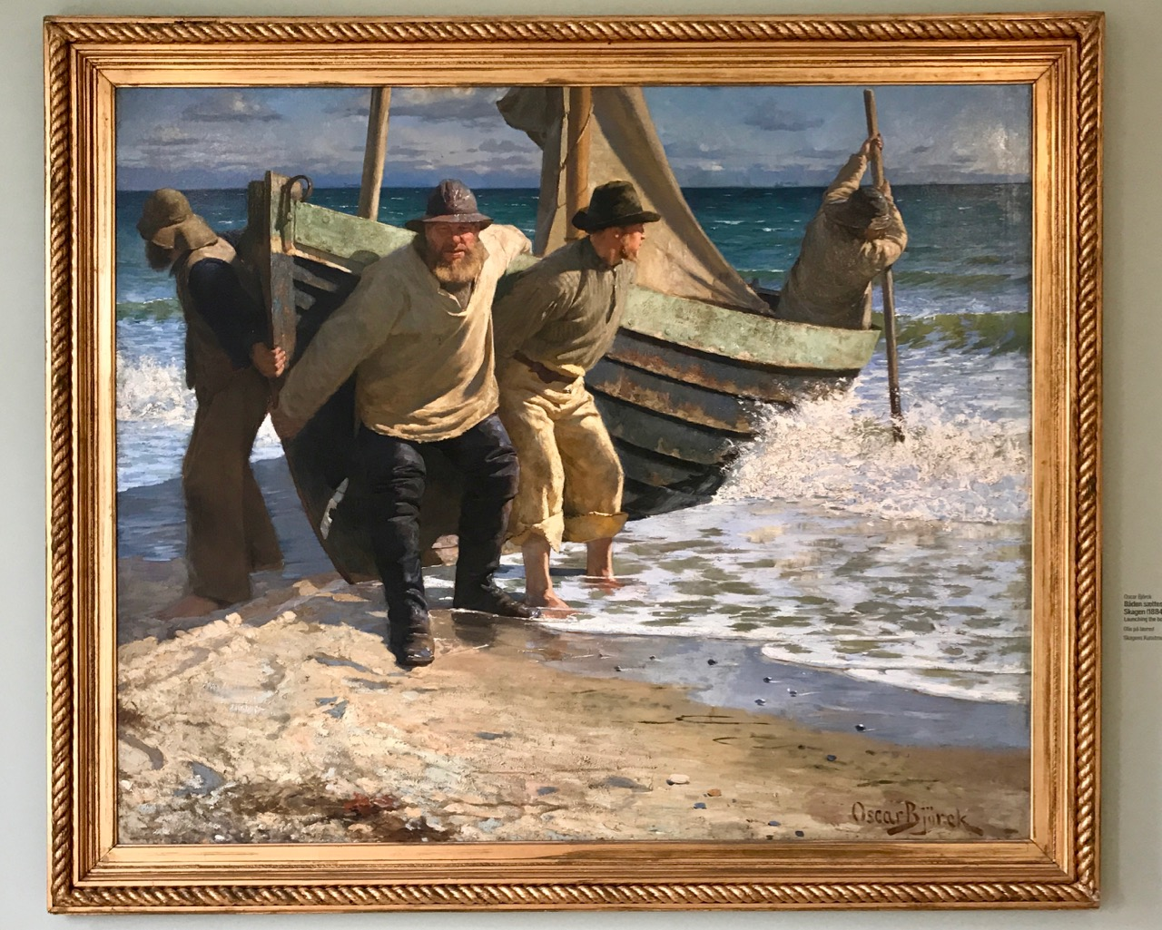 Launching the boat by Oscar Bjorck 1884 - Skagen Museum - Things To Do In Skagen.jpg