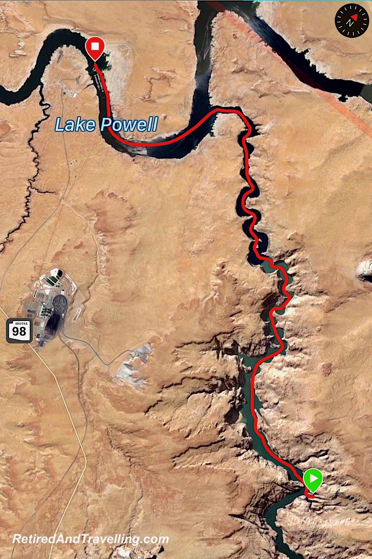 Antelope Point Navejo Canyon boat path - Boating Navajo Canyon On Lake Powell.jpg