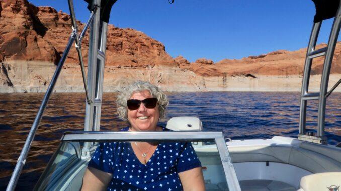 Boating Navajo Canyon On Lake Powell.jpg
