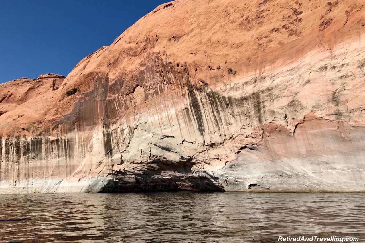 Boat Ride Rock Navajo Tapestry - Desert Varnish - Boating Navajo Canyon On Lake Powell.jpg
