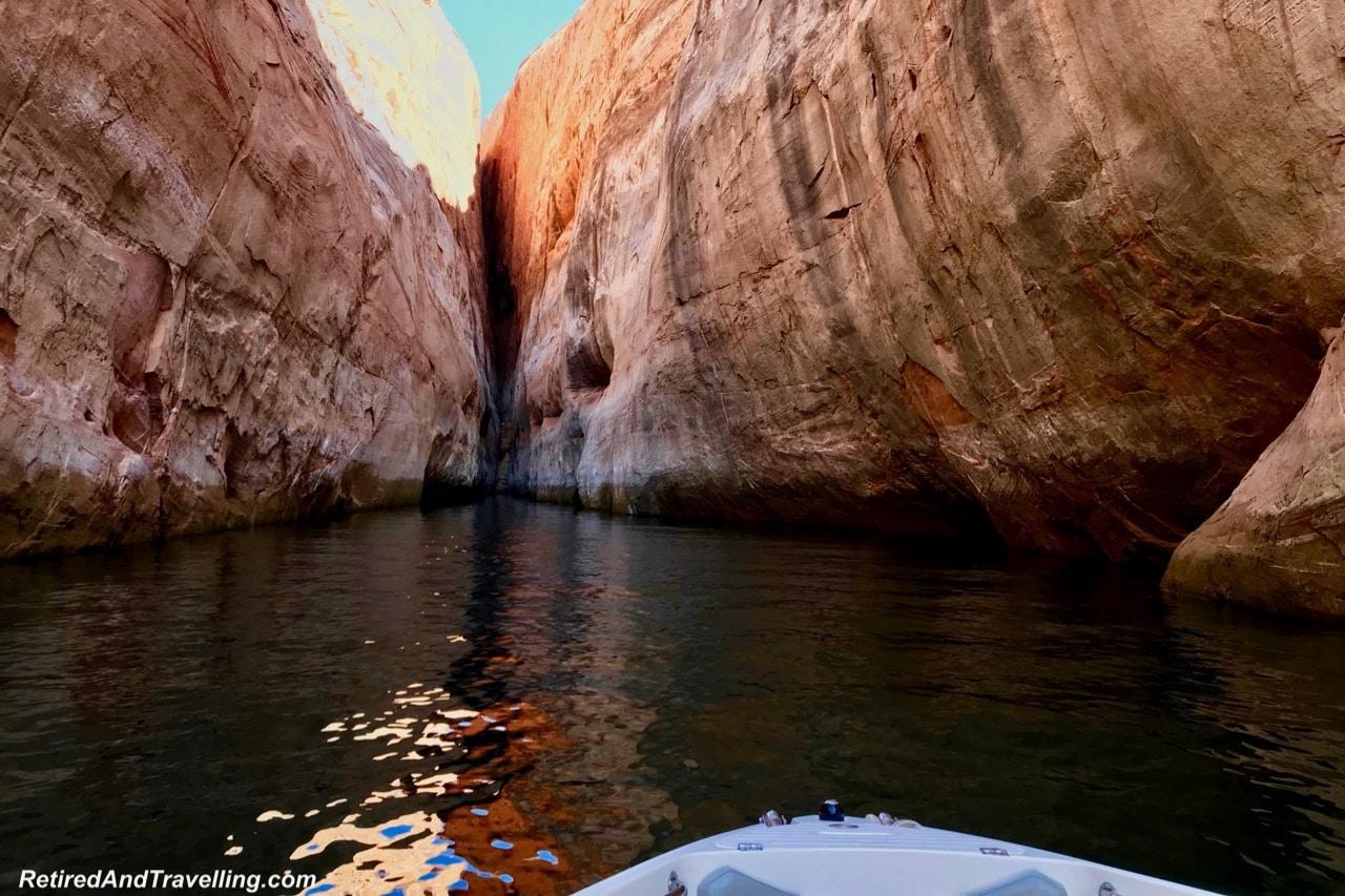 Boat Ride Rock Slot Canyon - Boating Navajo Canyon On Lake Powell.jpg